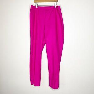 Lafayette 148 pink cropped pants